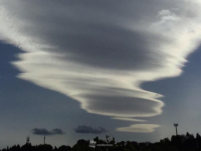 『おもしろ雲』が出現!その正体とは?