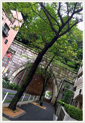 駅から愛宕神社目指して5分ほど歩くとトンネルが。