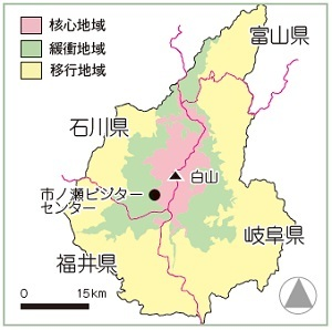 地図 白山