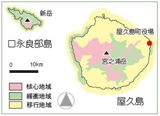 地図 屋久島