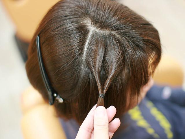 ボブ・ショートヘアでも簡単!サイドの「編み込み風くるりんぱ