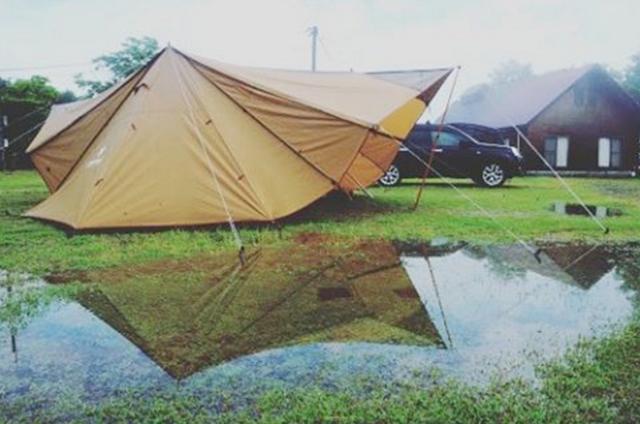 テントの「雨対策」!設営から撤収まで徹底解説!