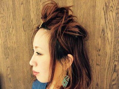伸ばしかけの前髪もすっきりなフロントアップアレンジ