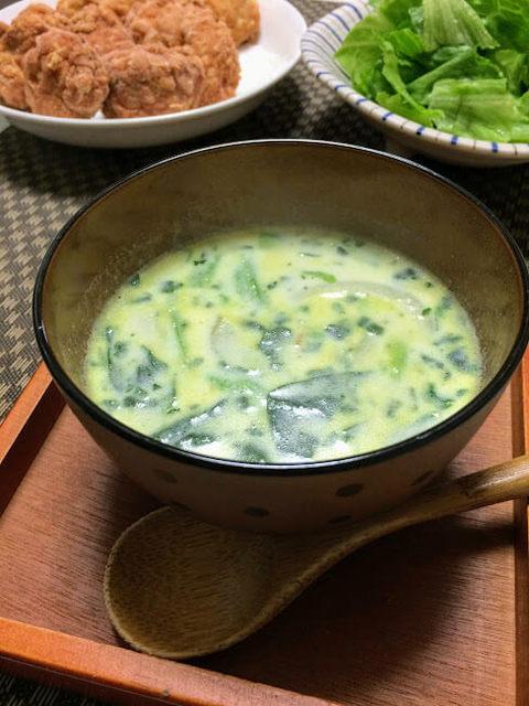 寒い冬におすすめ! 牛乳を使った、あったかほうれん草ミルクスープのレシピ