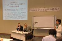 昨年5月、ヴェリキン氏を招聘し開催した院内集会「チェルノブイリ法への道のり」