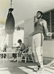 インドにてキックボクシングの練習に励む日々