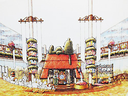 「スヌーピータウン」の完成予想図