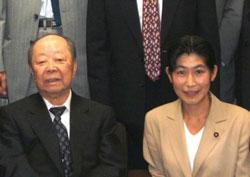 宮澤喜一元首相と懇談