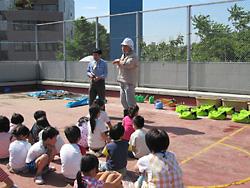 子供たちも授業の一環として参加