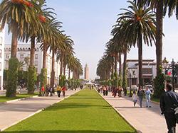 モロッコ、ラバトのモハメッドV通り/Photo by Wikipedia