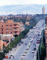 土壁色の街並みが広がる古都マラケシュ