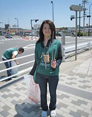 鎌倉駅周辺のグリーンバードの清掃活動に参加