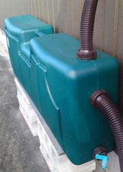 実家の雨水タンク