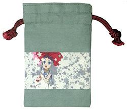 秩父の捺染技術を利用したアニメ柄の巾着