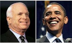 共和党マケイン候補と民主党オバマ候補