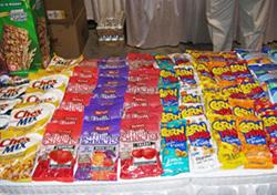 学校の売店で売られるスナック菓子