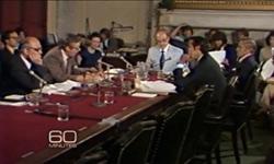 1977 年、米国の食事目標(通称マクガバンレポート)策定の様子、脂質の過剰摂取に警鐘を鳴らした photo by www.cbsnews.com
