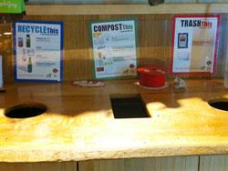 ゴミはリサイクル、コンポストなどにきちんと仕分け