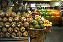 野菜、果物売り場