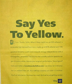 Go Yellow, Say Yes to Yellow.