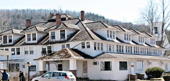 老朽化したリゾート施設