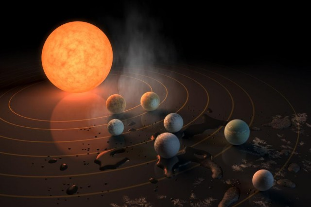 地球に似た7つの惑星の間を微生物が移動?