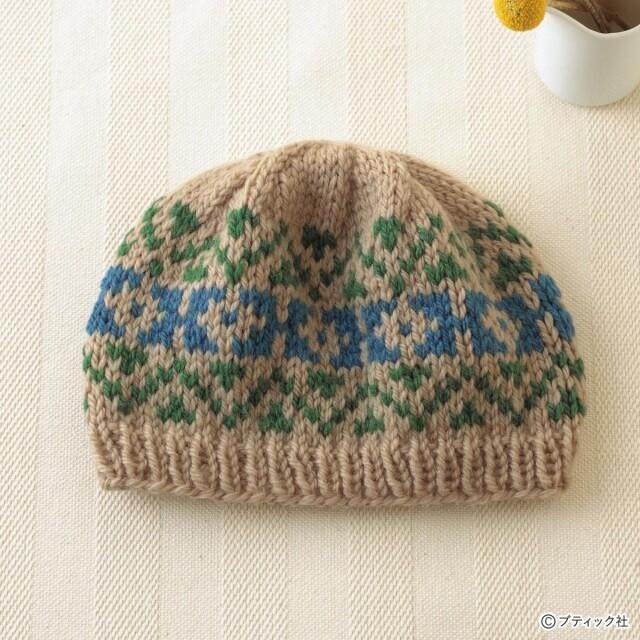 あたたかい!「編み込み模様のキャップ」編み方