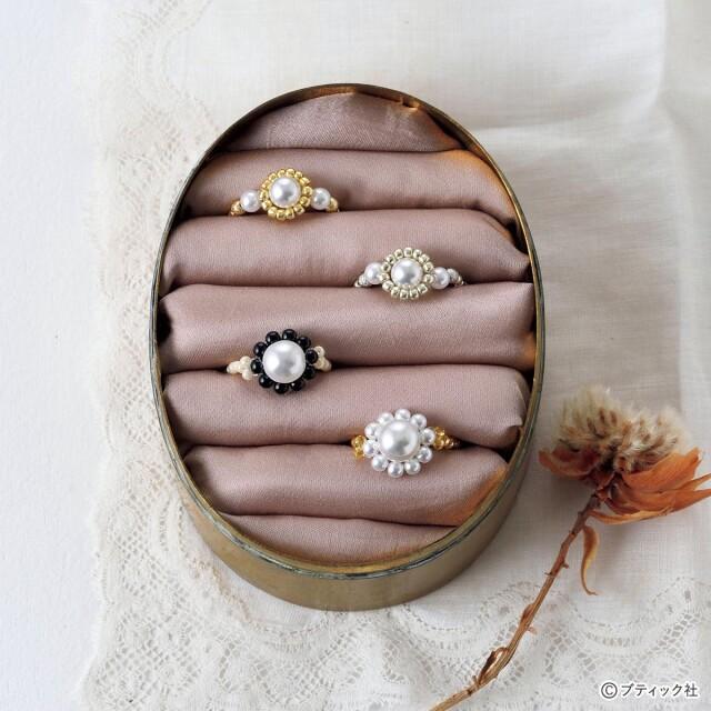 指輪 作り方 ビーズ