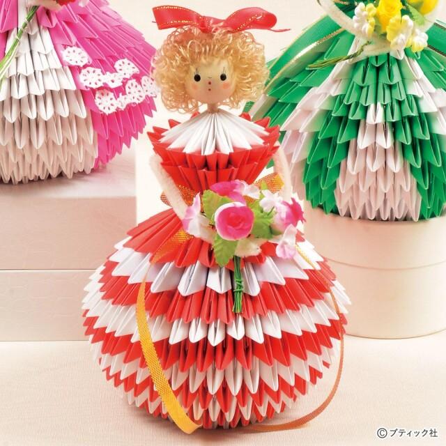 脳活性になる!折り紙手芸「ドレス人形」の作り方