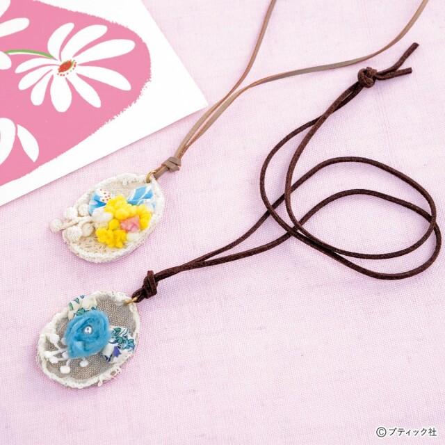 花やリボンがかわいい!「ガーリーなネックレス」の作り方